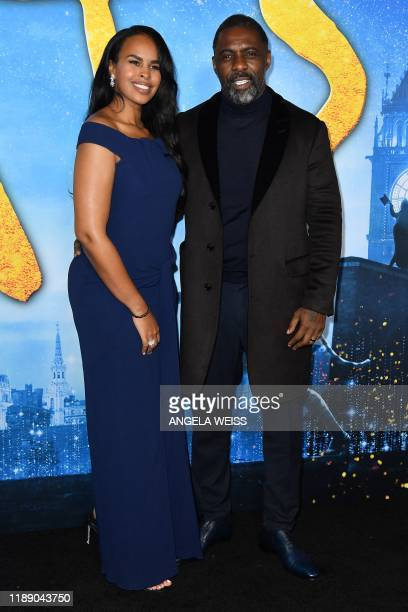 Enlgish actor Idris Elba and wife Sabrina Dhowre Elba arrive for the world premiere of Cats at the Alice Tully Hall in New York City on December 16...
