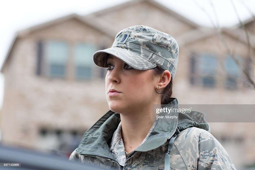 Enlisted Female Airforce Soldier : Stock Photo