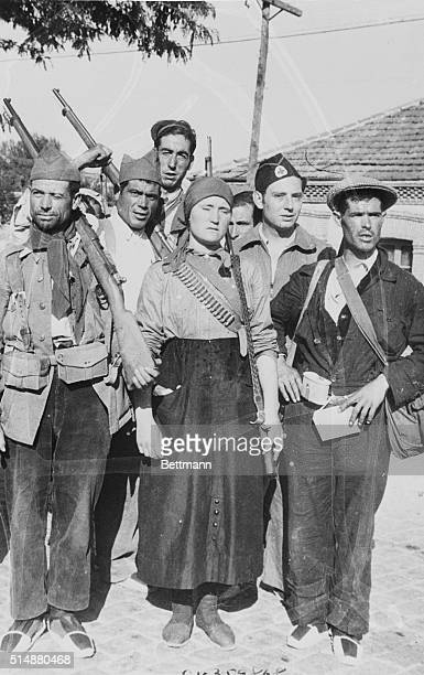 Enlistment of women with government forces continues as the Spanish civil war enters its second month Here are men and women soldiers about to go...