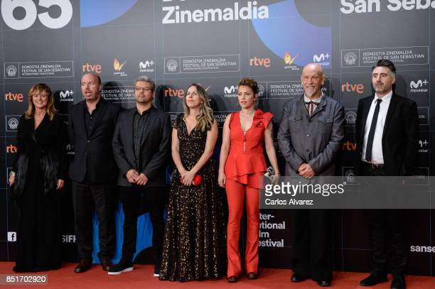 Enma Suarez Jorge Guerricaechevarria Andre Szankowski Paula Vaccaro Dolores Fonzi John Malkovich and William Oldroy attend the opening gala during...
