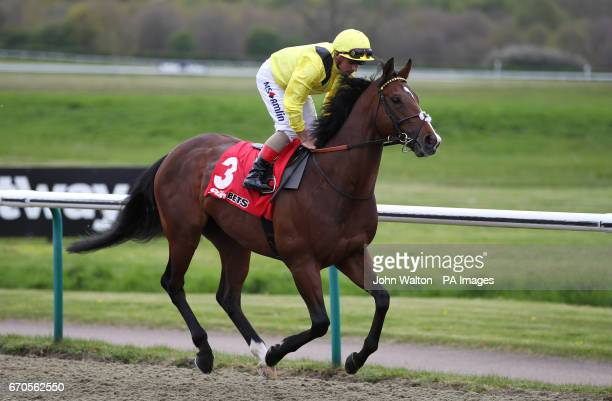 Ennaadd ridden by jockey Andrea Atzeni going to post prior to the Sunbets AllWeather Mile Championships Conditions Stakes