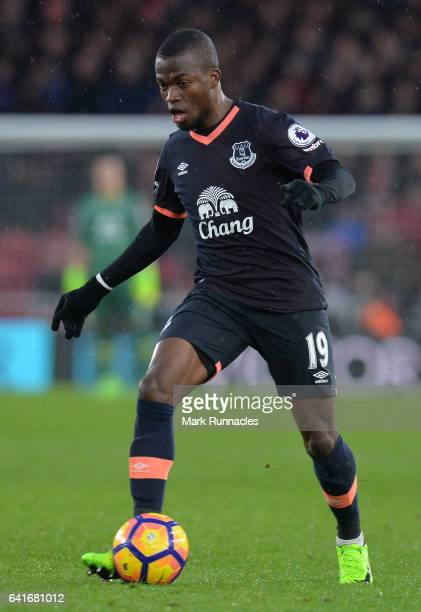 Enner Valencia of Everton in action during the Premier League match between Middlesbrough and Everton at Riverside Stadium on February 11 2017 in...