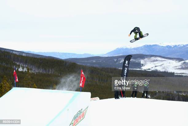 Enni Rukajari of Finland competes in the women's snowboard Slopestyle Final during Day 4 of the Dew Tour on December 16 2017 in Breckenridge Colorado
