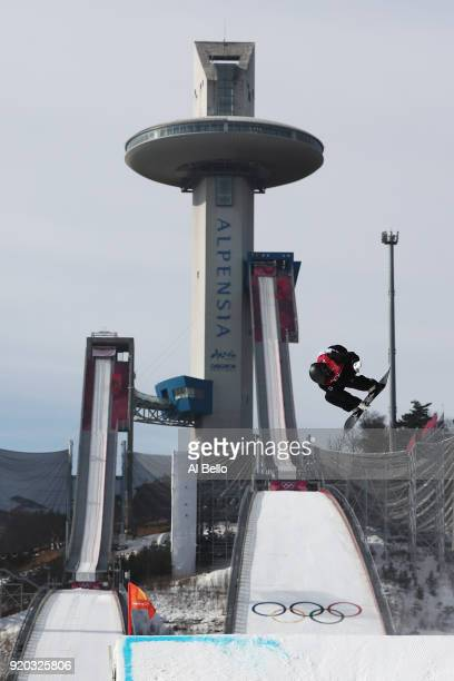 Enni Rukajarvi of Finland competes during the Snowboard Ladies' Big Air Qualification on day 10 of the PyeongChang 2018 Winter Olympic Games at...