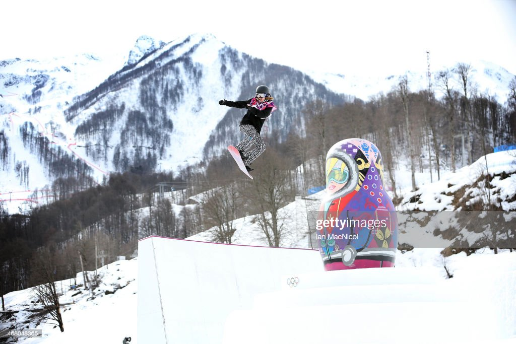 Enni Rukajarvi of Finland competes during the Snowboard Women's Slopestyle Final during day 2 of the Sochi 2014 Winter Olympics at Rosa Khutor Extreme Park on February 9, 2014 in Sochi, Russia.