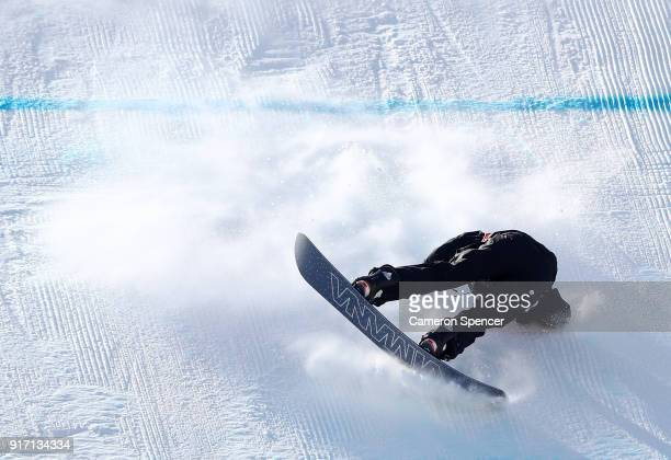 Enni Rukajarvi of Finland crashes in the Snowboard Ladies' Slopestyle Final on day three of the PyeongChang 2018 Winter Olympic Games at Phoenix Snow...