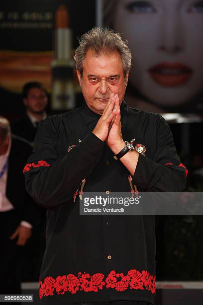 Ennio Fantastichini of the cast of 'Caffe' attends the premiere of 'Brimstone' during the 73rd Venice Film Festival at Sala Grande on September 3...