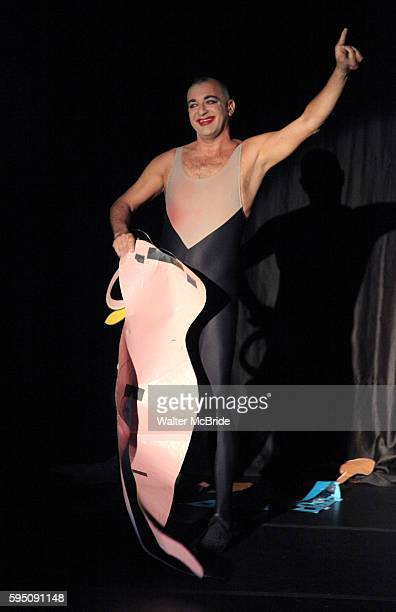 Ennio Marchetto performing in The New York Musical Theatre Festival Press Preview at The World Stages Theatre in New York City