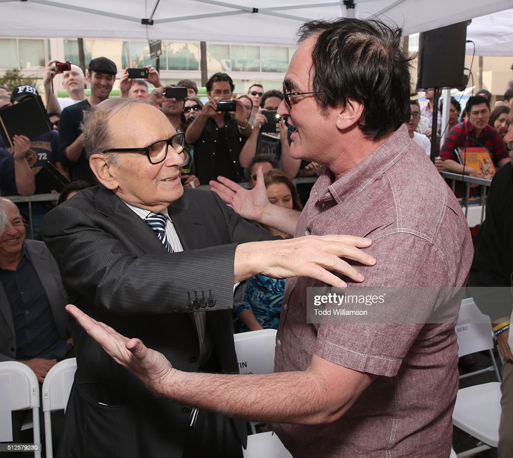 The Hateful Eight's Ennio Morricone Star Ceremony On The Hollywood Walk Of Fame : News Photo