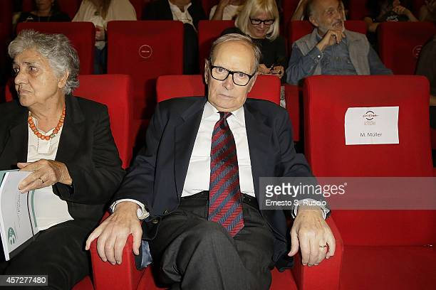 Ennio Morricone attends the Cocktail Party during the 9th Rome Film Festival at Casa del Cinema on October 15 2014 in Rome Italy