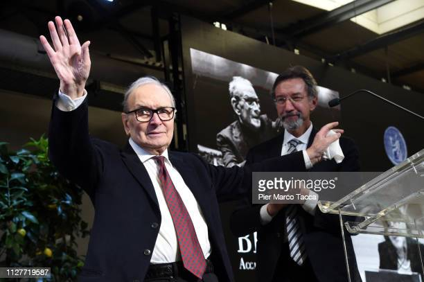 Ennio Morricone attends the Honorary Degree at Accademia di Belle Arti di Brera on February 27 2019 in Milan Italy
