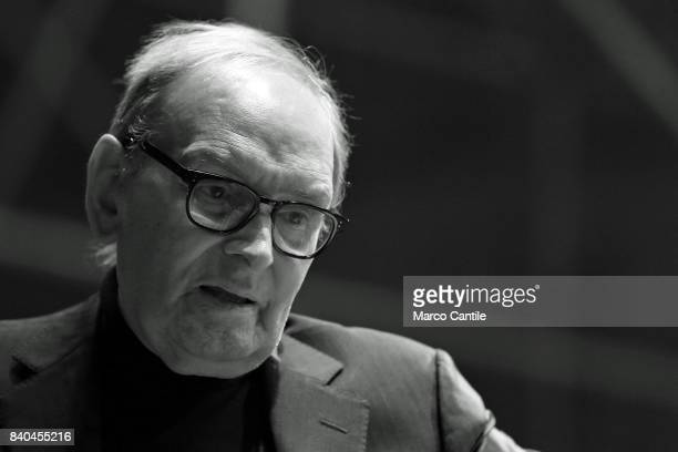 Ennio Morricone in concert with the orchestra Roma sinfonietta at the Royal Palace of Caserta