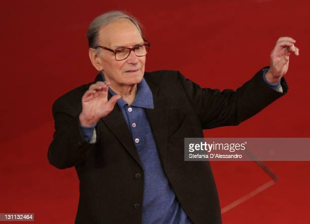 Ennio Morricone member of the International Jury attend a photocall during the 6th International Rome Film Festival on November 1 2011 in Rome Italy
