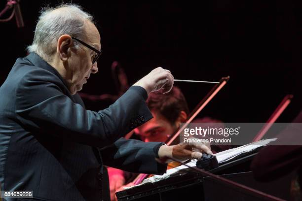 Ennio Morricone performs at Mediolanum Forum on stage on December 2 2017 in Milan Italy