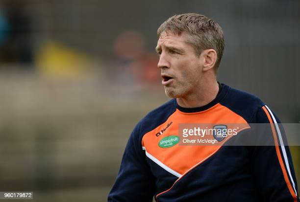 Enniskillen Ireland 19 May 2018 Armagh manager Kieran McGeeney during the Ulster GAA Football Senior Championship QuarterFinal match between...
