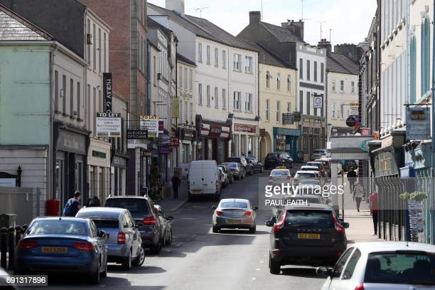 Enniskillen town centre is pictured in the Fermanagh South Tyrone seat in County Fermanagh on May 30 2017 Last years Brexit referendum vote has seen...