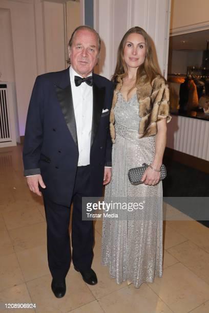 Enno von Ruffin Estelle Rytterborg during the 23 Blauer Ball at Hotel Atlantic Kempinski on February 22 2020 in Hamburg Germany
