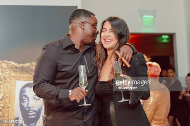 Enoch and Akanksha Mirchandani attend The One And Only, Dick Gregory, Album Release Event on September 16, 2021 in Burbank, California.