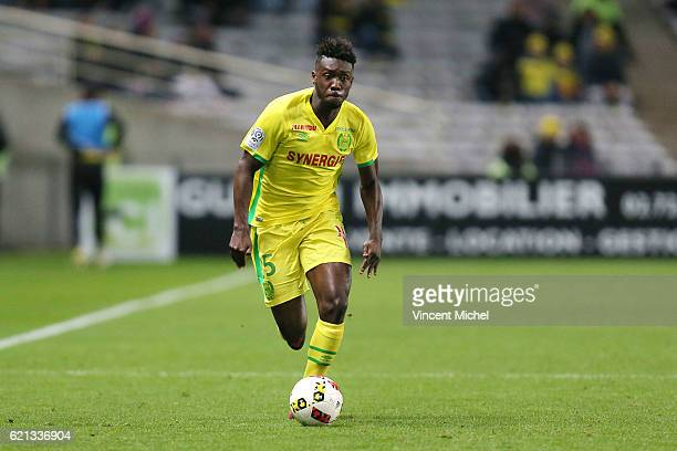 Enock Kwateng of Nantes during the Ligue 1 match between Fc Nantes and Toulouse Fc at Stade de la Beaujoire on November 5 2016 in Nantes France
