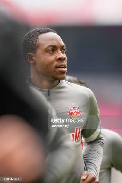 Enock Mwepu of Salzburg during the tipico Bundesliga match between FC Red Bull Salzburg and LASK at Red Bull Arena on April 18, 2021 in Salzburg,...