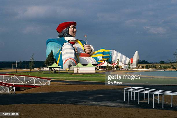 Enormous structure in the likeness of Gargantua a fictional character created by French novelist Francois Rabelais Part of the amusement park...