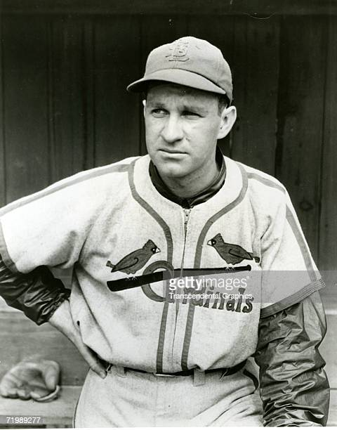 Enos Slaughter outfielder for the St Louis Cardinals poses for a portrait in Sportsmans Park in 1940