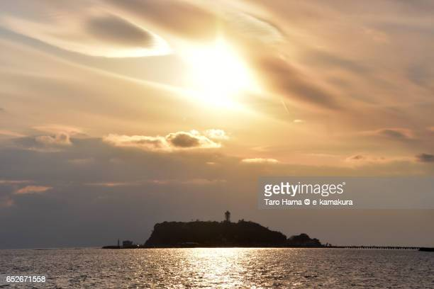 Enoshima island in the sunset