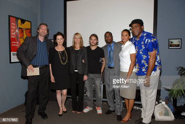 Enough co-chair John Prendergast, UNICEF Ambassador Dayle Haddon, actress Robin Wright Penn, actor Emile Hirsch, Dr. Robert Luhiriri, Congo analyst...