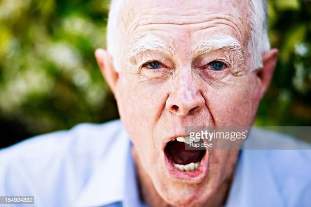 Enraged pensioner - a real grumpy old man