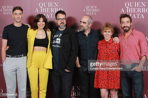 Enric Auquer Maria Luisa Mayol Paco Plaza 3 Luis Tosar María Vázquez and Ismael Martínez attend `Quien A Hierro Mata´ photocall on August 27 2019 in...