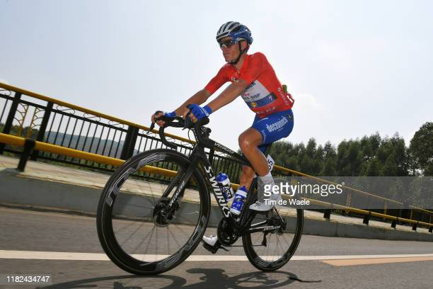 Enric Mas Nicolau of Spain and Team Deceuninck QuickStep Red Leader Jersey / during the 3rd Tour of Guangxi 2019 Stage 5 a 2122km stage from Liuzhou...