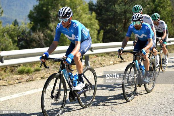 Enric Mas Nicolau of Spain & Dario Cataldo of Italy and Movistar Team during the 100th Volta Ciclista a Catalunya 2021, Stage 4 a 166,5km stage from...