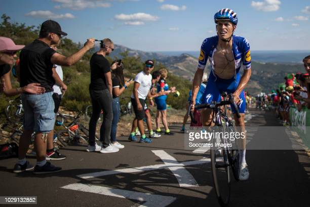 Enric Mas of Quick Step Floors during the Vuelta on September 7 2018