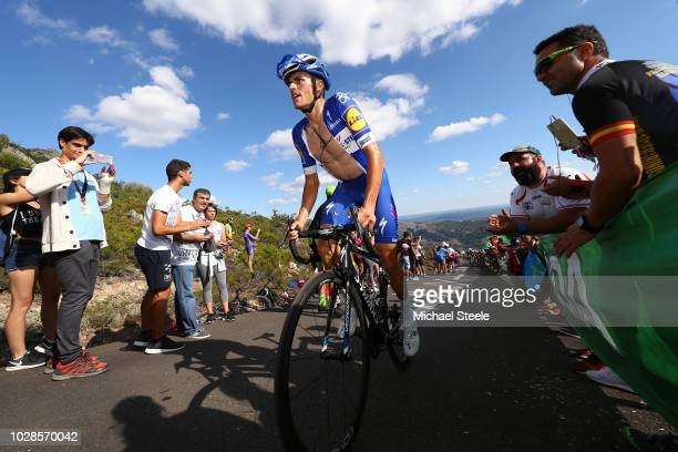Enric Mas of Spain and Team QuickStep Floors / Alto de la Camperona / Fans / Public / during the 73rd Tour of Spain 2018 Stage 13 a 1748km stage from...