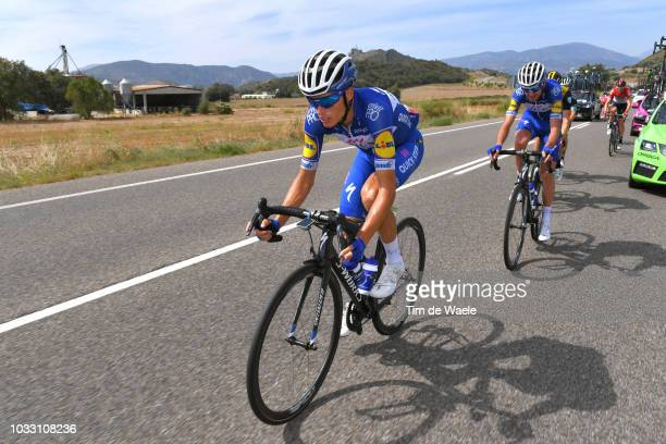 Enric Mas of Spain and Team QuickStep Floors Best Young Rider / Pieter Serry of Belgium and Team QuickStep Floors / during the 73rd Tour of Spain...