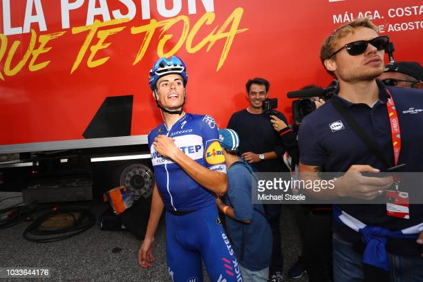 Enric Mas of Spain and Team QuickStep Floors Celebration / during the 73rd Tour of Spain 2018 Stage 20 a 973km stage from EscaldesEngordany to Coll...