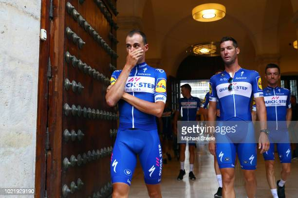 Enric Mas of Spain and Team QuickStep Floors / Fabio Sabatini of Italy and Team QuickStep Floors / during the 73rd Tour of Spain 2018 Team...
