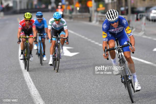 Enric Mas of Spain and Team QuickStep Floors / Miguel Angel Lopez of Colombia and Astana Pro Team White Combined Jersey / Nairo Quintana of Colombia...
