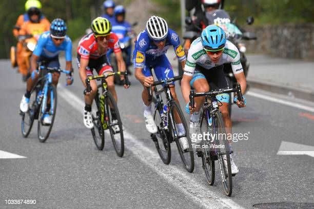 Enric Mas of Spain and Team Quick-Step Floors / Miguel Angel Lopez of Colombia and Astana Pro Team White Combined Jersey / Nairo Quintana of Colombia...