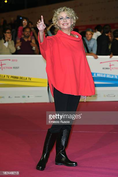 Enrica Bonaccorti attends the Fiction Fest 2013 opening night at Auditorium Parco Della Mosica on September 29 2013 in Rome Italy