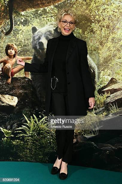 Enrica Bonaccorti attends the 'Il Libro Della Giungla' Premiere at Cinema Barberini on April 12 2016 in Rome Italy