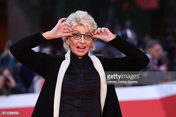 Enrica Bonaccorti walks a red carpet at Auditorium Parco Della Musica on October 13 2016 in Rome Italy