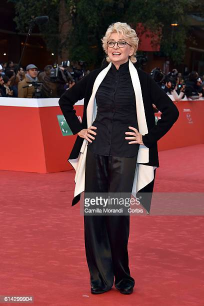 Enrica Bonaccorti walks a red carpet during the 11th Rome Film Festival on October 13 2016 in Rome Italy