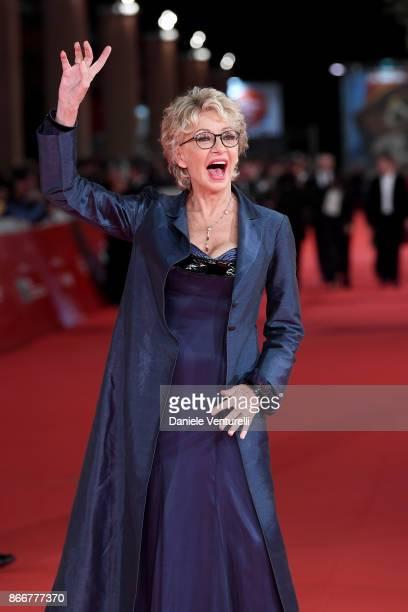 Enrica Bonaccorti walks a red carpet for Hostiles during the 12th Rome Film Fest at Auditorium Parco Della Musica on October 26 2017 in Rome Italy