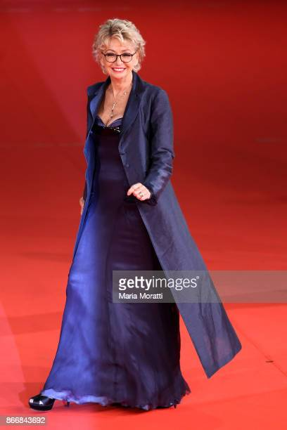 Enrica Bonaccorti walks a red carpet for 'Hostiles' during the 12th Rome Film Fest at Auditorium Parco Della Musica on October 26 2017 in Rome Italy