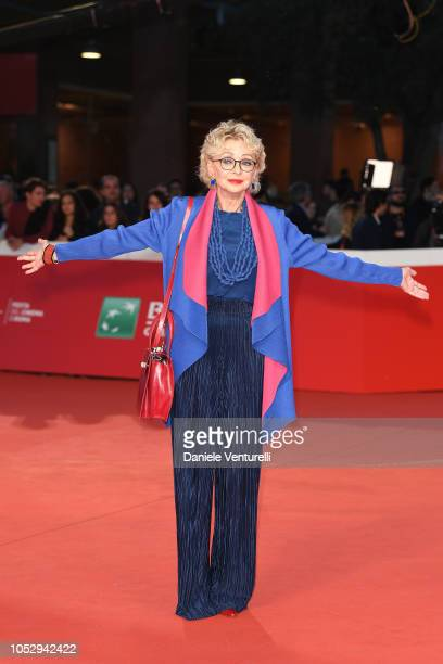Enrica Bonaccorti walks the red carpet during the 13th Rome Film Fest at Auditorium Parco Della Musica on October 24 2018 in Rome Italy
