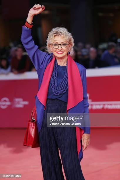Enrica Bonaccorti walks the red carpet during the 13th Rome Film Fest at Auditorium Parco Della Musica on October 24 2018 in Rome Italy