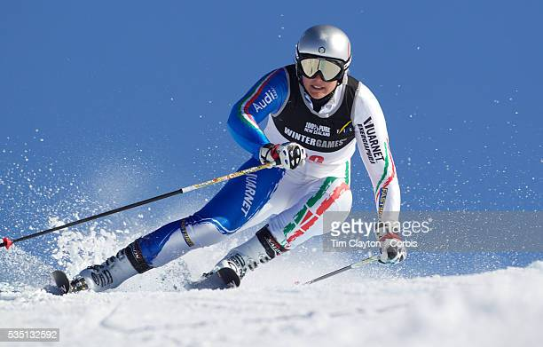 Enrica Cipriani Italy in action during the Women's Giant Slalom competition at Coronet Peak New Zealand during the Winter Games Queenstown New...