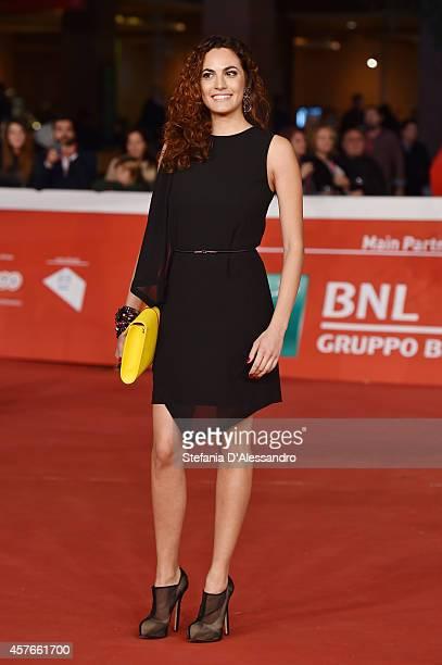 Enrica Guidi attends the 'Fino A Qui Tutto Bene' Red Carpet during the 9th Rome Film Festival on October 22 2014 in Rome Italy