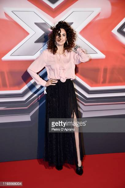 Enrica Guidi attends the photocall of the X Factor 2019 Final at Mediolanum Forum of Assago on December 12 2019 in Milan Italy